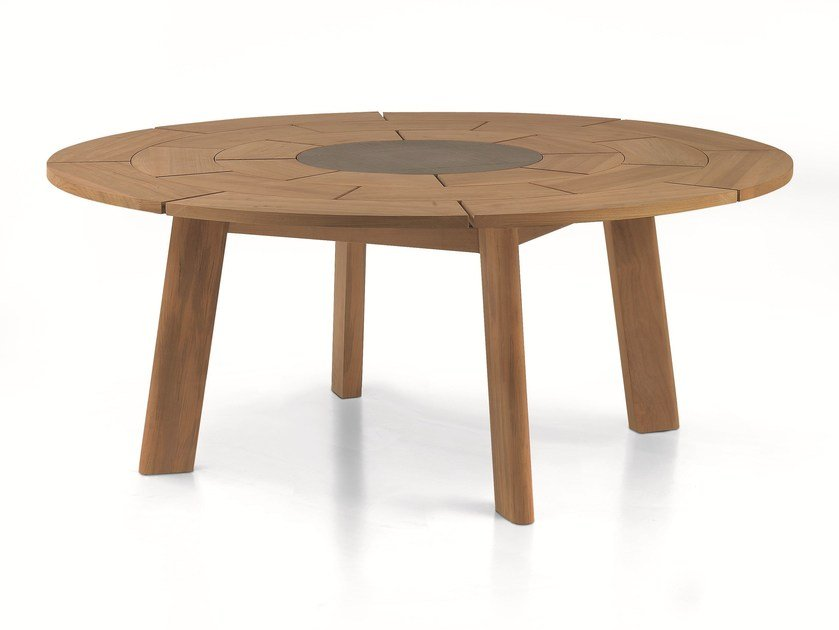 Brick round table by roda design gordon guillaumier