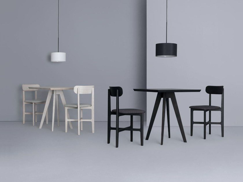 Square wooden table CENA CAFE by ZEITRAUM