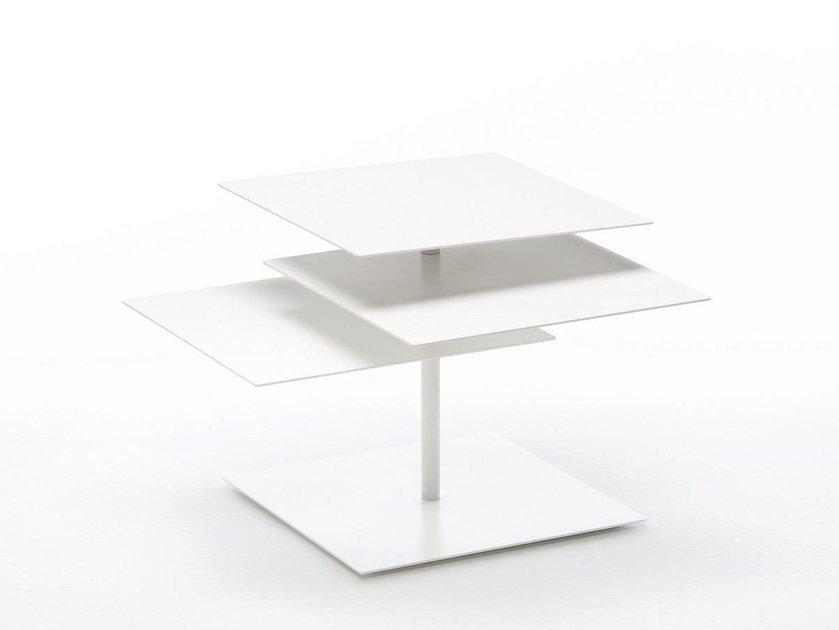 Square metal coffee table B3 by Living Divani