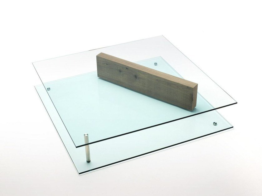 Glass coffee table PLANE by Living Divani