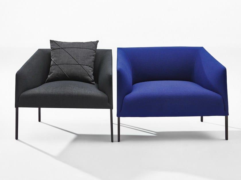 Upholstered fabric armchair SAARI XL by arper