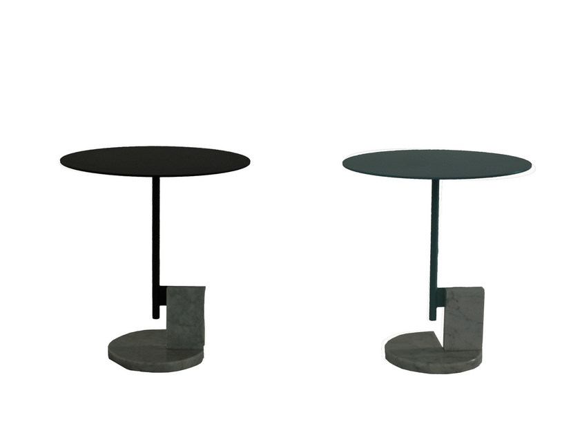 Round steel coffee table A+B by ROCHE BOBOIS