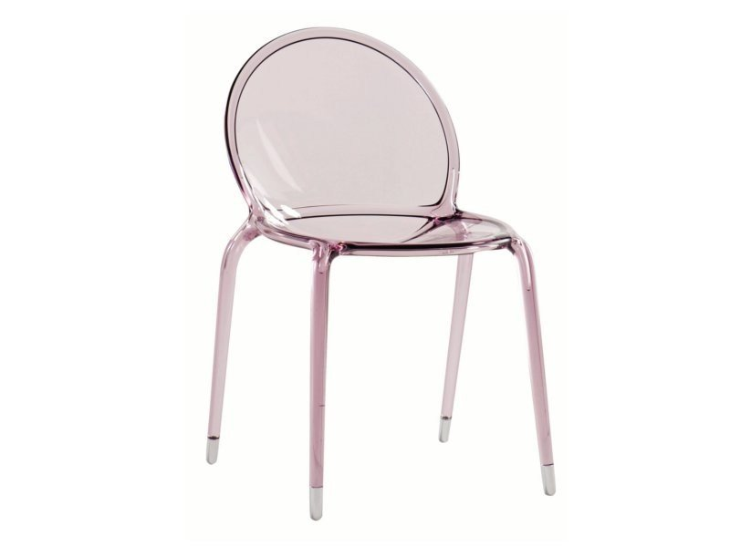Stackable polycarbonate chair LOOP by ROCHE BOBOIS