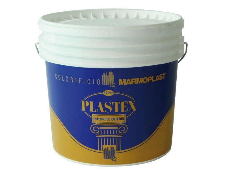 Water repellent water-based paint PLASTEX INT - EST LUCIDO by Marmoplast