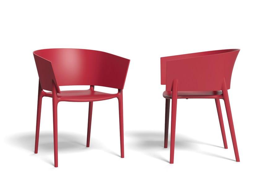 Garden chair with armrests AFRICA | Chair by VONDOM