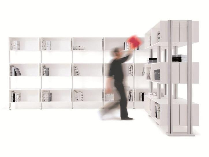 Open sectional bookcase BACKUP CUBE by Diemmebi
