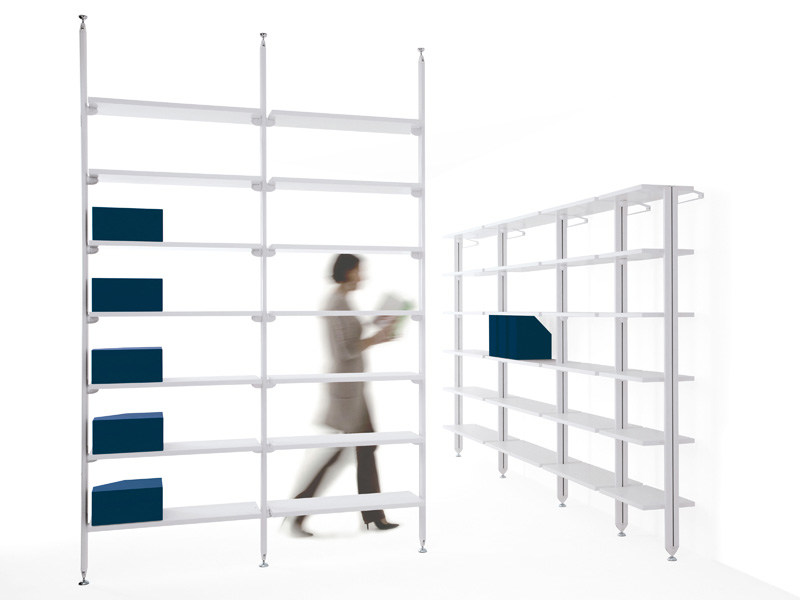 Open modular wooden bookcase BACKUP WOOD by Diemmebi
