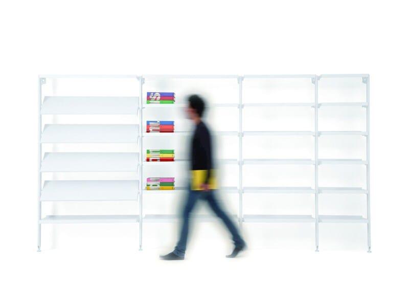 Open modular plate bookcase BACKUP METAL by Diemmebi
