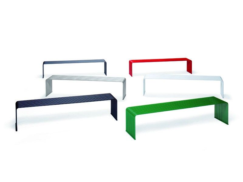 Recyclable backless metal Bench ZEROQUINDICI.015   Bench by Diemmebi