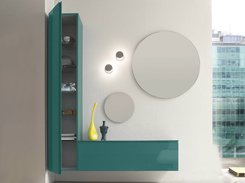 Wall-mounted sectional lacquered hallway unit LOGIKA   Wall-mounted hallway unit by Birex