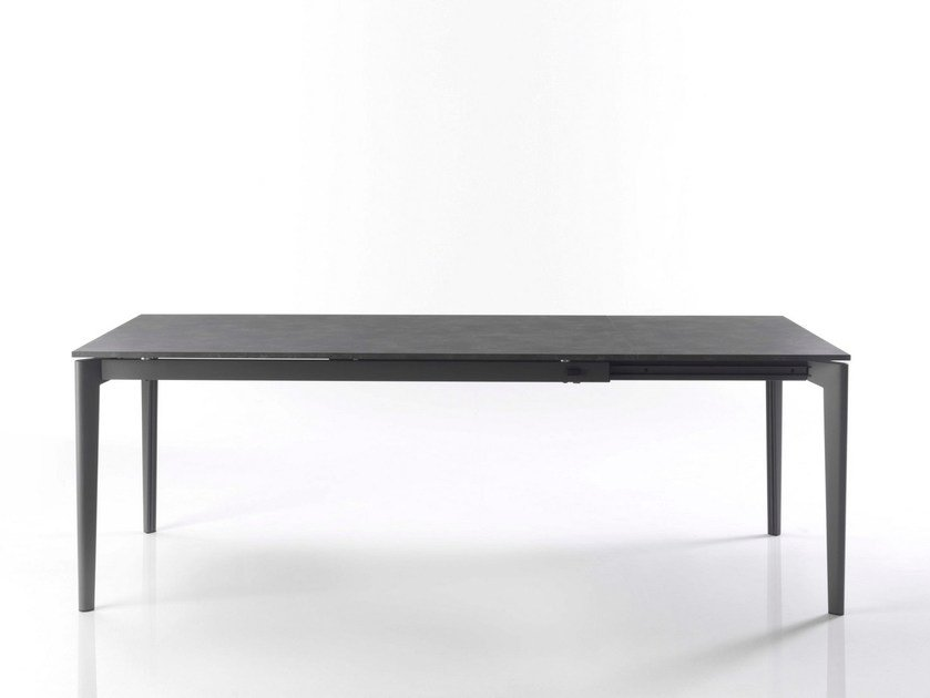 Extending lacquered wooden table DOTO | Lacquered table by Bontempi