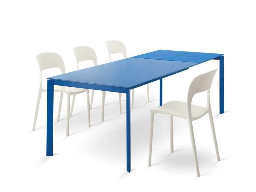 Extending melamine-faced chipboard table DUBLINO by Bontempi