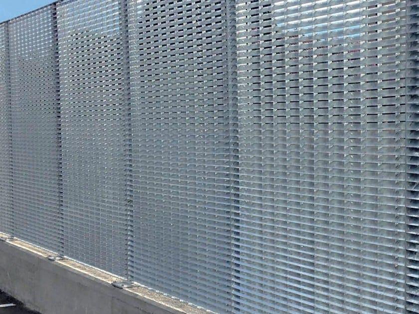 Recinzione modulare paravista in acciaio SUN SCREEN by GRIDIRON GRIGLIATI