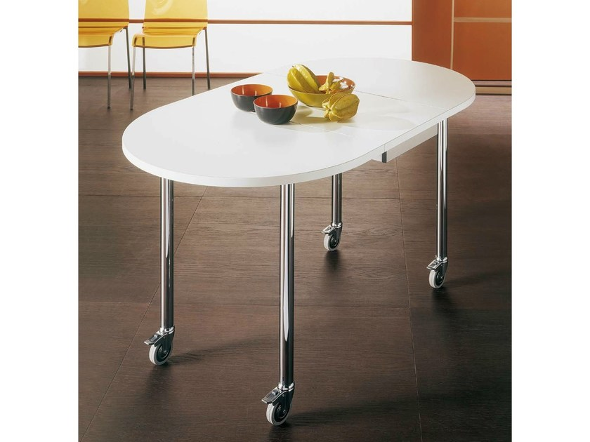 Drop-leaf table with casters FREE by Bontempi