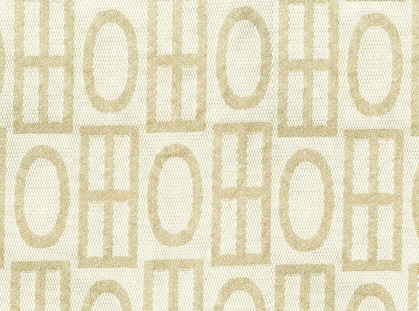 Fabric fabric with graphic pattern DAKOTA STRAW by KOHRO