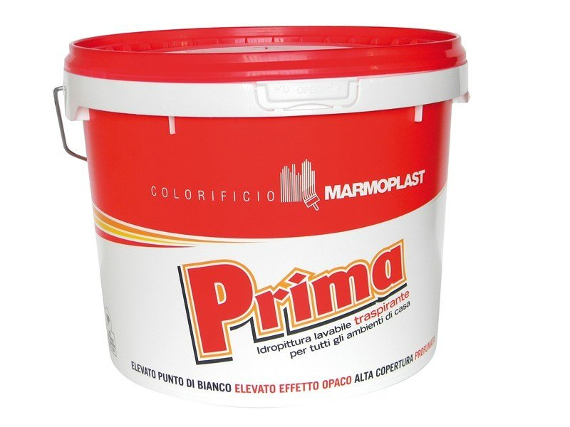 Breathable water-based paint PRIMA COP. RED by Marmoplast