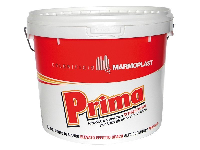 Breathable water-based paint PRIMA COP. WHITE by Marmoplast