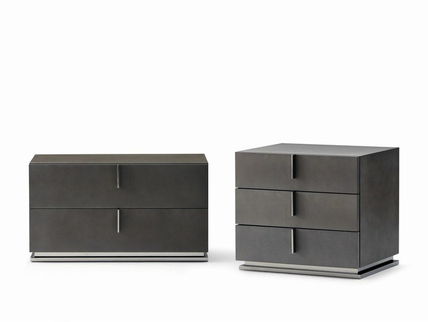 Lacquered bedside table with drawers ARI | Bedside table by Flou