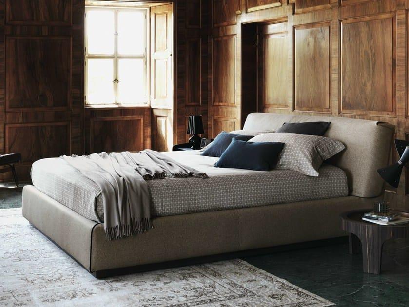 Gentleman letto con testiera imbottita by flou design carlo colombo - Testiera letto design ...