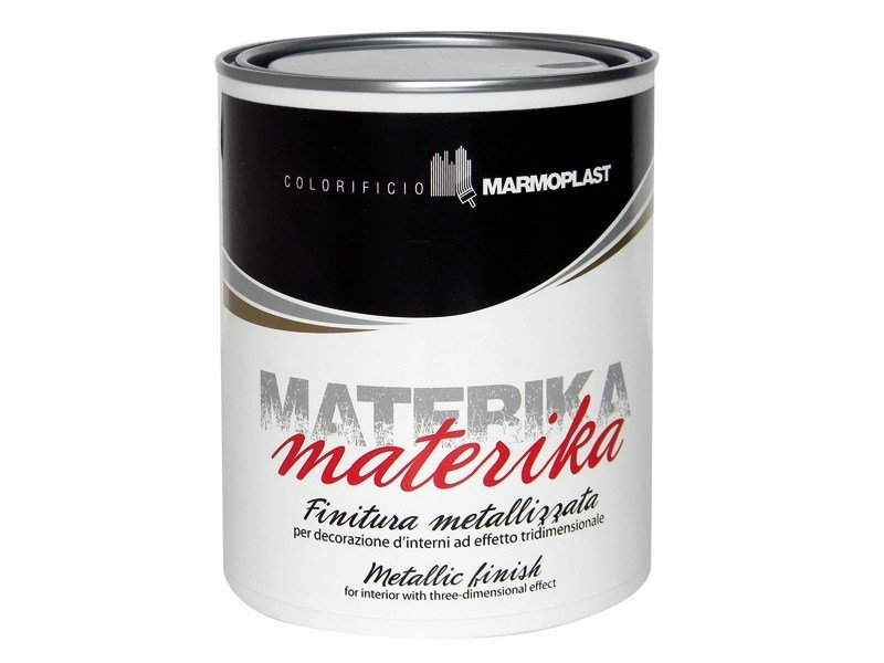 Decorative painting finish with raised effect MATERIKA by Marmoplast