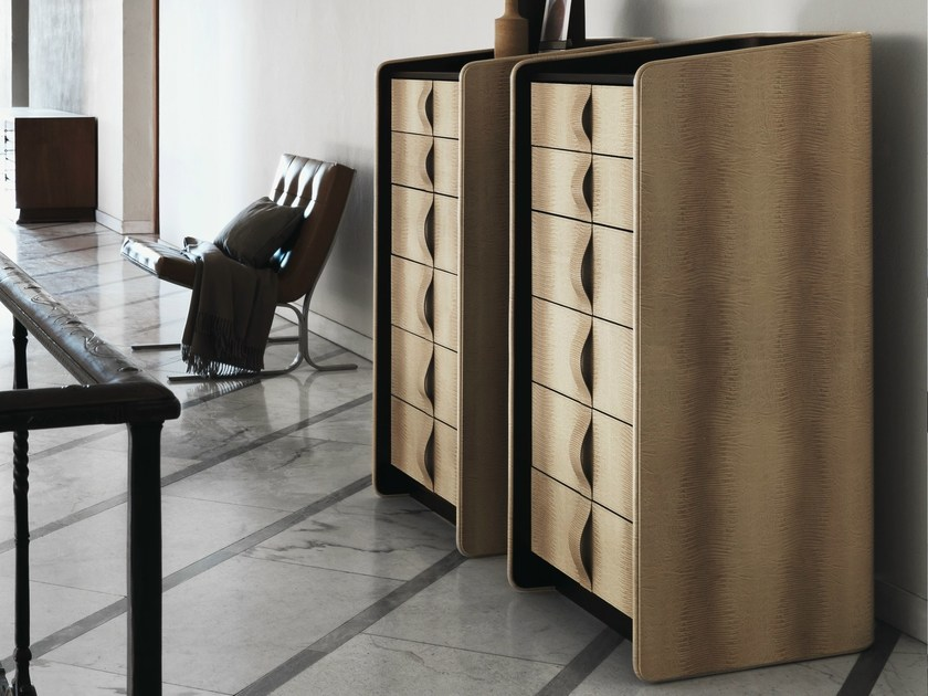 Leather chest of drawers GENTLEMAN   Chest of drawers by Flou