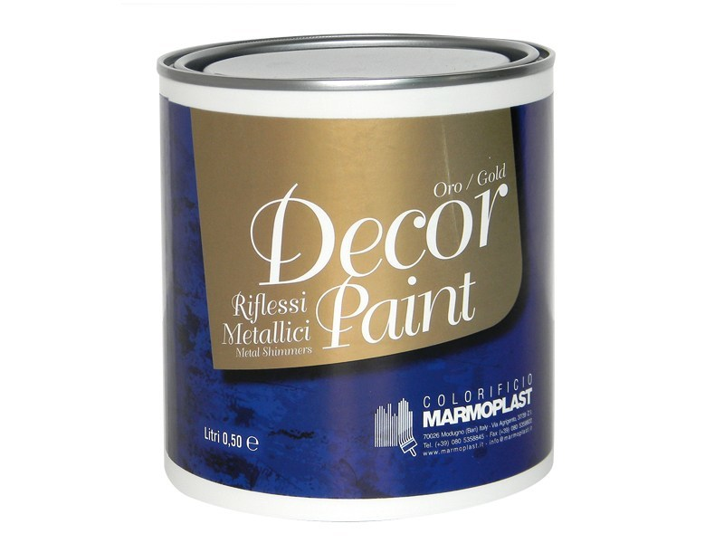 Acrylic decorative painting finish with metallic effect DECOR PAINT by Marmoplast