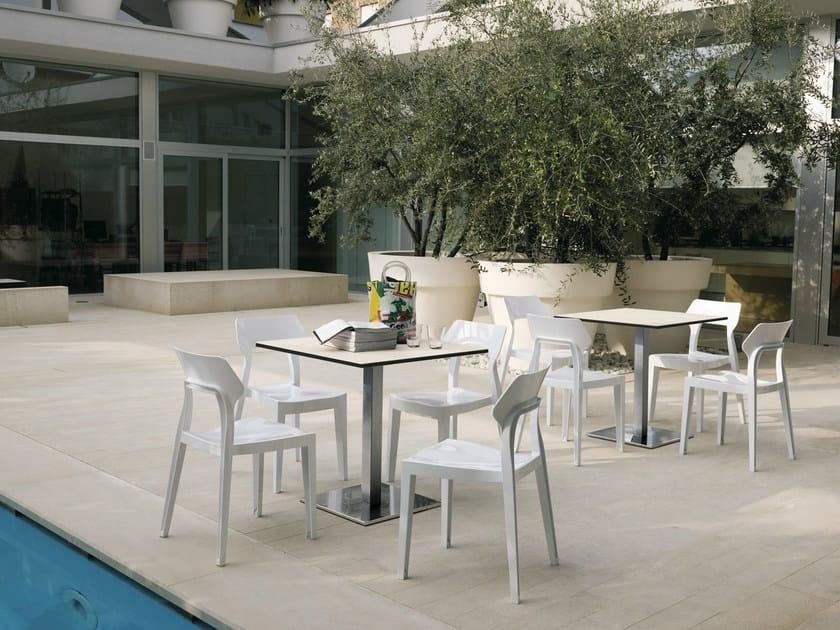 Square garden table ALTER by Bontempi