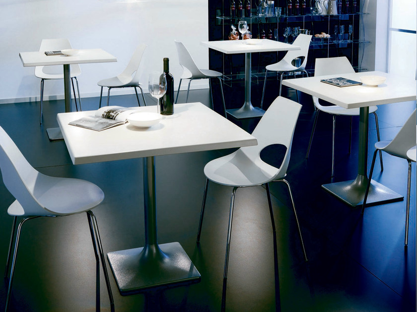 Contemporary style square steel table NEW ALIS by Bontempi