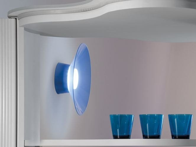 LED polycarbonate wall lamp QUID | Wall lamp by Lombardo
