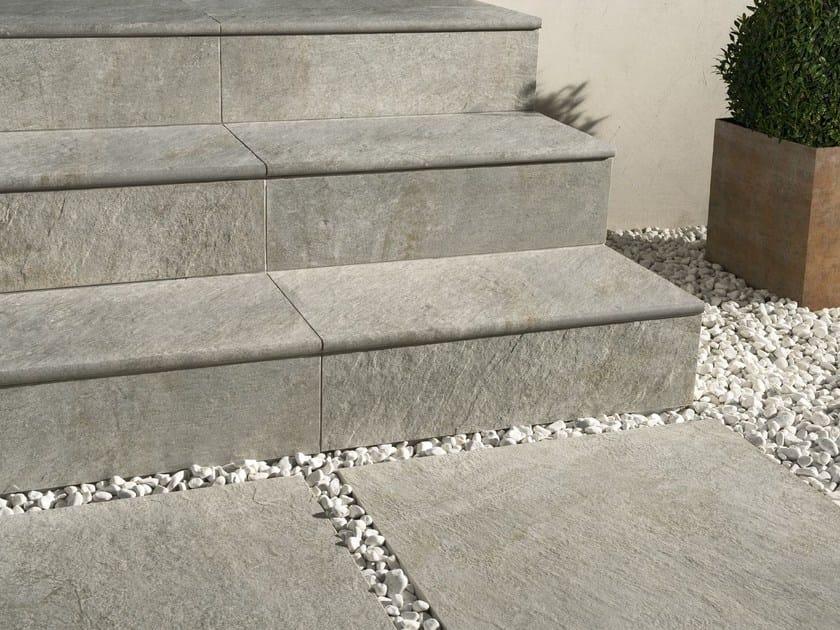Pavimento per esterni in gres porcellanato dual step ceramiche