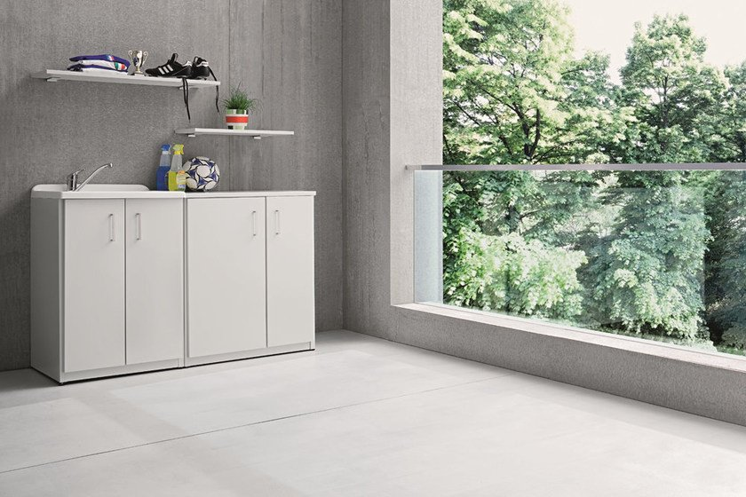Outdoor Laundry Room Cabinet With Sink BRACCIO DI FERRO