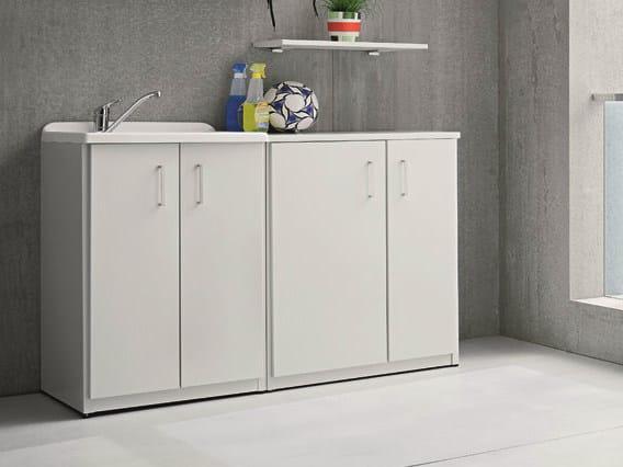 Outdoor laundry room cabinet with sink BRACCIO DI FERRO | Laundry room cabinet with sink by Birex