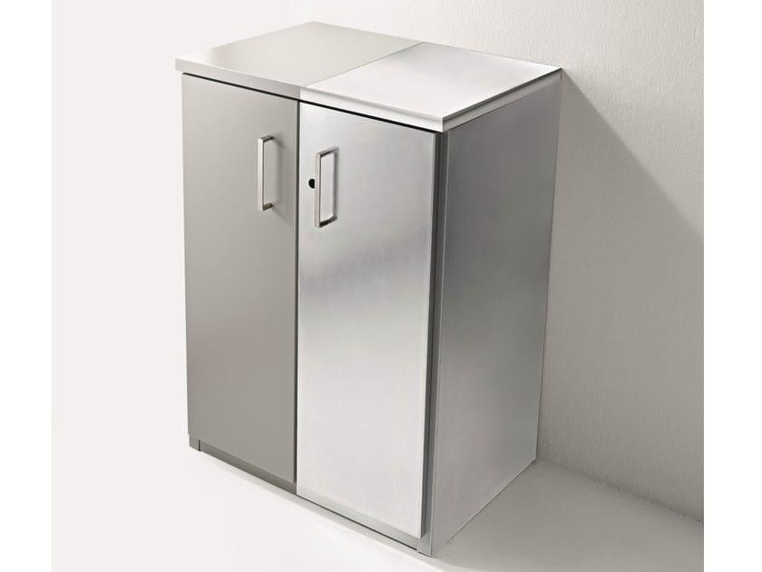 Galvanized plate laundry room cabinet with hinged doors BRACCIO DI FERRO | Galvanized plate laundry room cabinet by Birex