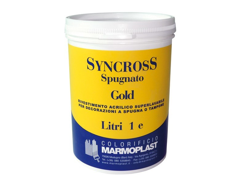 Gypsum and decorative plaster SYNCROSS SPUGNATO GOLD by Marmoplast