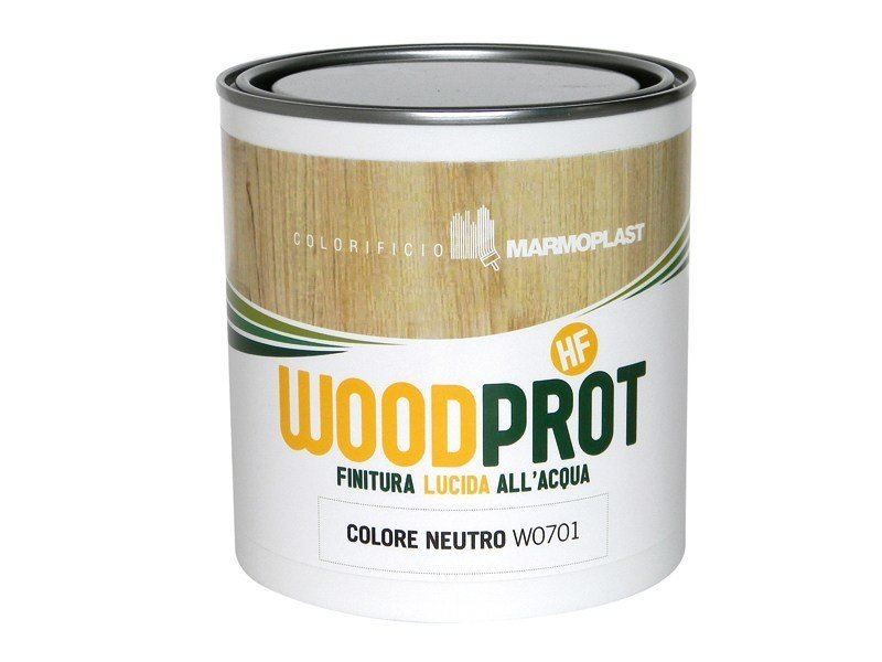 Wood treatment WOODPROT HF - FINITURA LUCIDA by Marmoplast