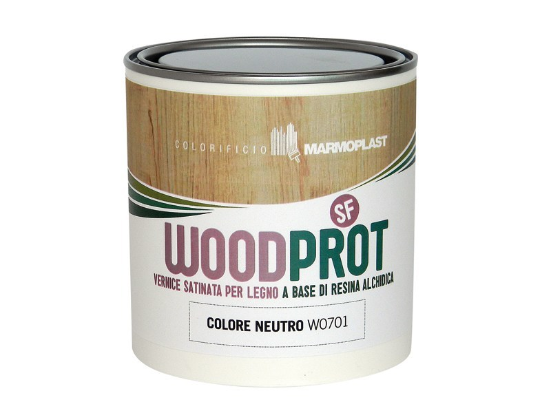 Wood protection product WOODPROT SF - FINITURA SEMILUCIDA by Marmoplast
