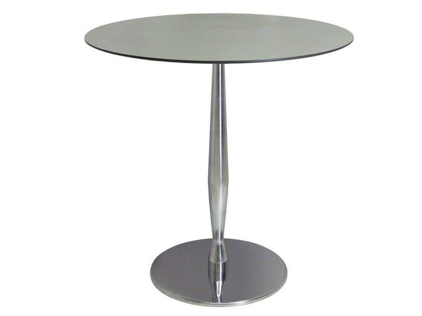 Round stainless steel table SLOGI-40 by Vela Arredamenti