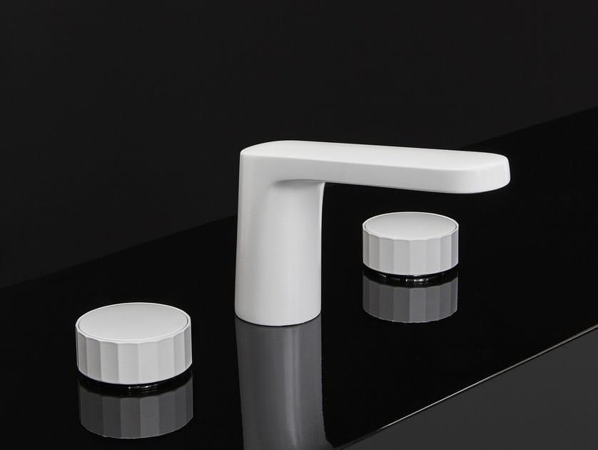 Rubinetto per lavabo a 3 fori TEXTURE   Miscelatore per lavabo a 3 fori by FIMA Carlo Frattini