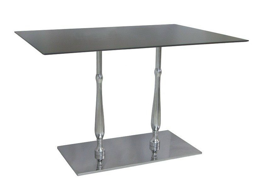 Rectangular stainless steel contract table ECLISSE-84-2 by Vela Arredamenti