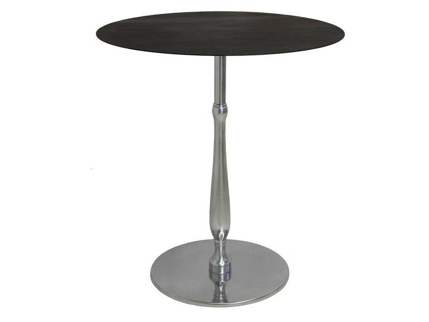 Round stainless steel contract table ECLISSE by Vela Arredamenti