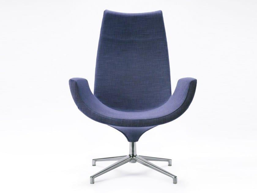 Swivel high-back armchair BEETLE | High-back armchair by Infiniti