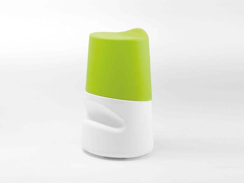 Polyethylene stool with footrest BRONCIO | Stool by Infiniti