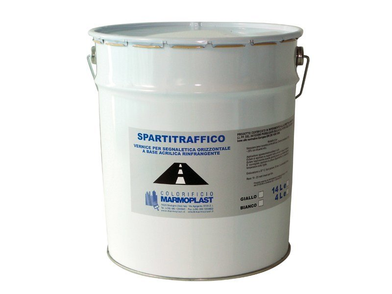 Acrylic varnish for road signals, refractive SPARTITRAFFICO RIFRANGENTE by Marmoplast