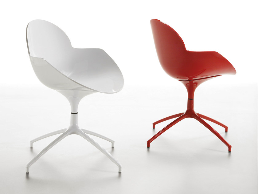 Swivel polycarbonate chair COOKIE | Swivel chair by Infiniti