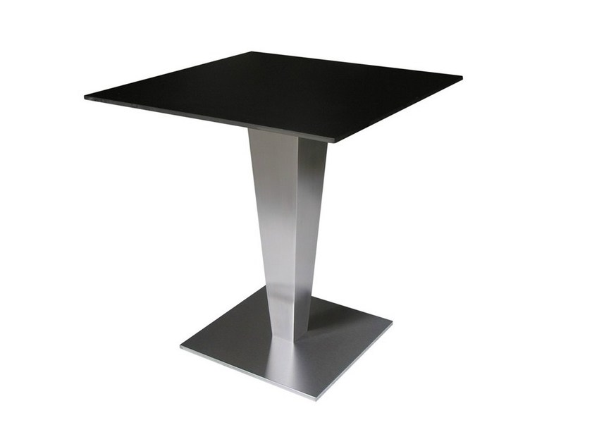 Square stainless steel contract table SLIPOT by Vela Arredamenti