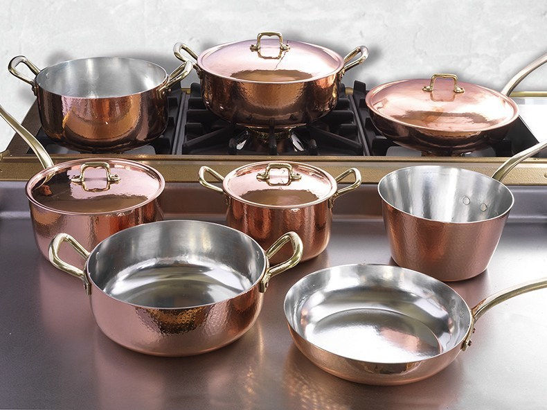 copper cookware set cookware set by officine gullo