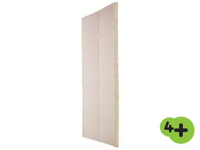 Glass wool Thermal insulation panel / Sound insulation and sound absorbing panel in mineral fibre EXTRAWALL 4+ by Saint-Gobain ISOVER