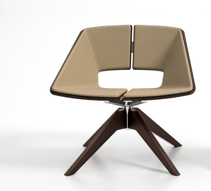 Trestle-based fabric easy chair HUG   Trestle-based easy chair by Infiniti