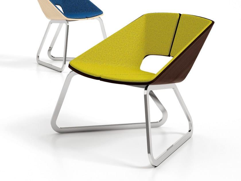 Sled base fabric easy chair HUG   Sled base easy chair by Infiniti