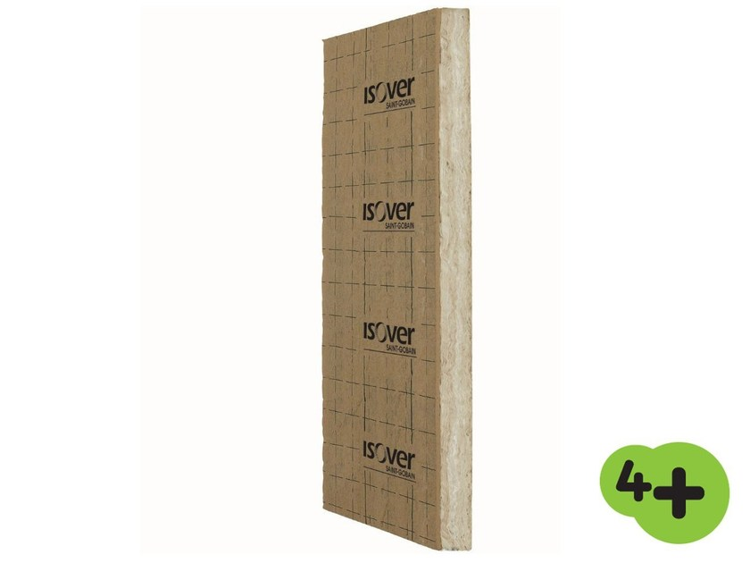 Glass wool Thermal insulation panel / Sound insulation and sound absorbing panel in mineral fibre XL K 4+ by Saint-Gobain ISOVER